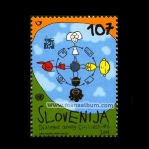 تمبر گفتگوی تمدنها چاپ : اسلوونی