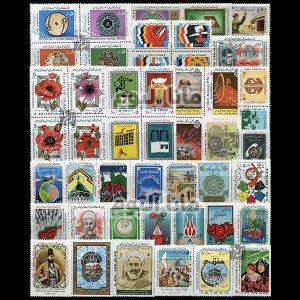 64 - مجموعه کامل تمبرهای یادگاری سال 64