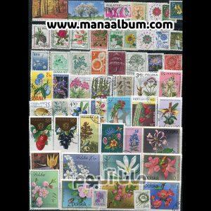 تمبر خارجی باطله - گلها
