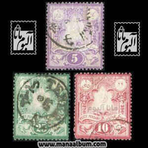 تمبر قاجار سری لیتوگراف